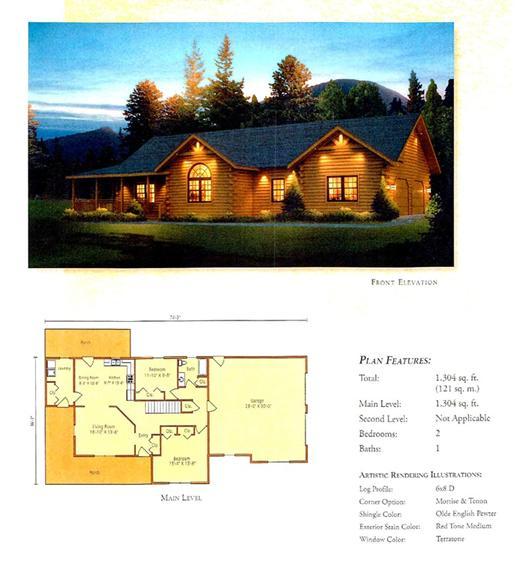 Morningdale Log Homes LLC floor plans - Loyalhanna