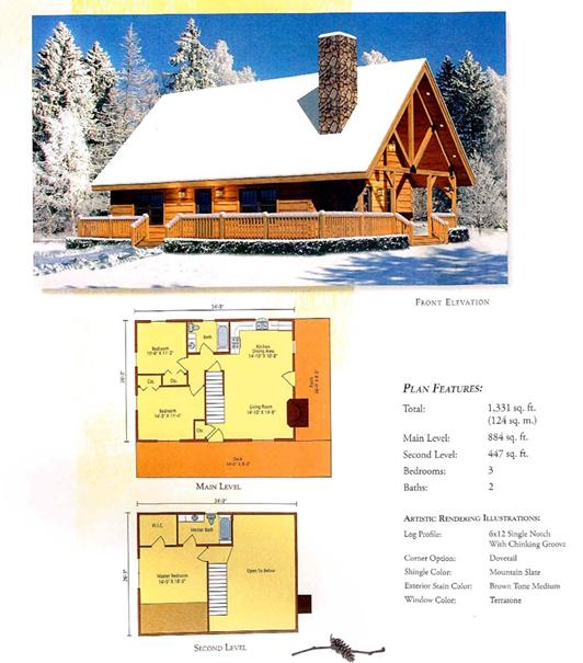 Morningdale Log Homes LLC floor plans - Moshannon