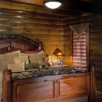 morningdale log homes, 23 - Rogers_bed