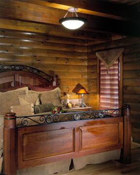 morningdale log homes, 23 - Rogers_bed