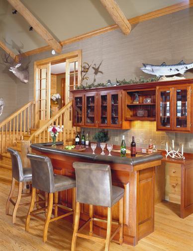 morningdale log homes, Andrews_bar