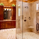 morningdale log homes, Barth-Log-Home-Bath