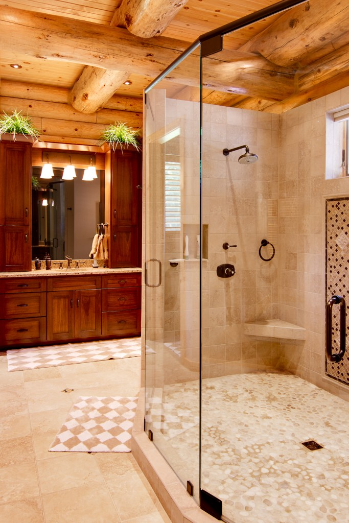 morningdale log homes, Barth-Log-Home-Bath