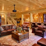 morningdale log homes, Barth-Log-Home-Entertainment