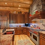 morningdale log homes, Barth-Log-Home-Kitchen