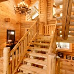 morningdale log homes, Barth-Log-Home-Stairs