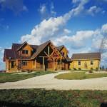 Morningdale Log Homes, log home exteriors, exclusive Timberhaven log home plan