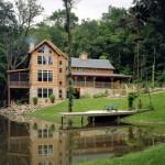 Morningdale Log Homes, log home exteriors, in iowa