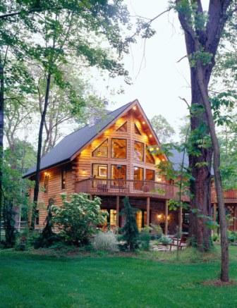 Morningdale Log Homes, log home exteriors, in ohio