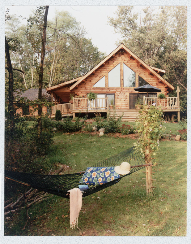 Morningdale Log Homes, log home exteriors, whitewashed logs