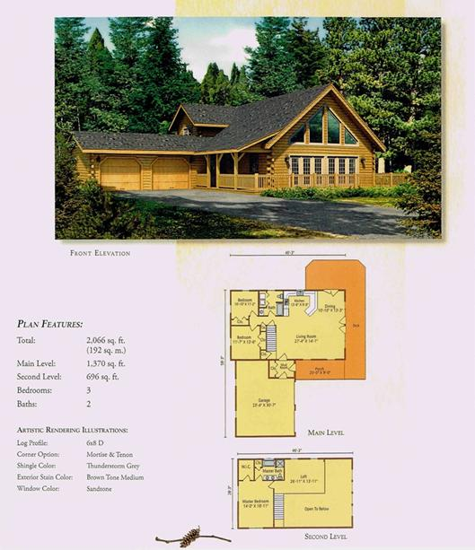 Morningdale Log Homes LLC floor plans - Keystone