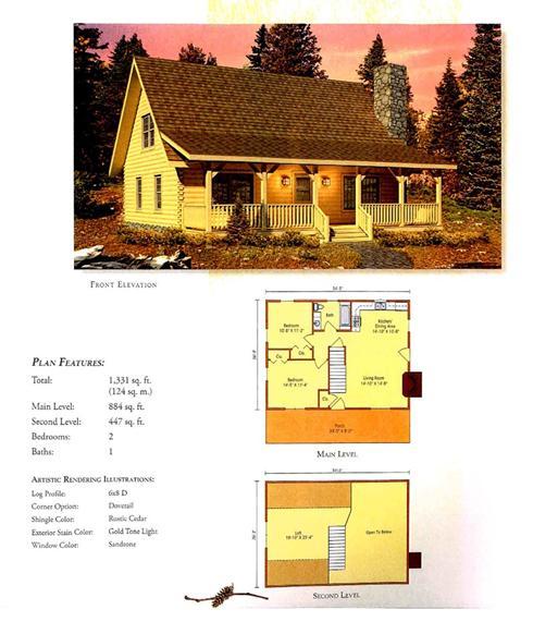 Morningdale Log Homes LLC floor plans - Valley View