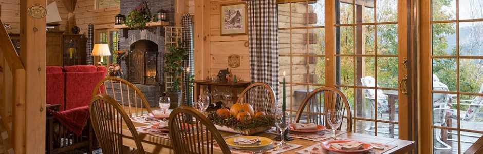 morningdale log homes log home dining room