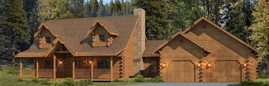 morningdale log homes log home exterior view