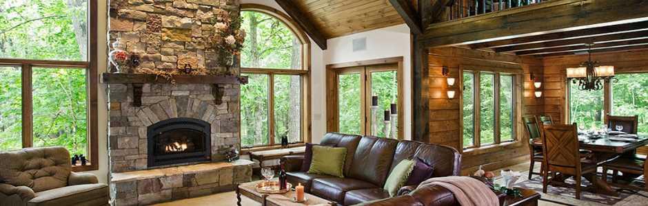 morningdale log homes log home great room