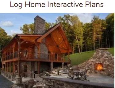 log home interactive plans