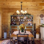morningdale log homes, log home dining room