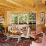 morningdale log homes, log home sitting room