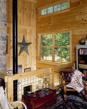 morningdale log homes, log home balcony