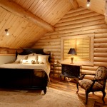 morningdale log homes, Barth-Log-Home-Bedroom-3