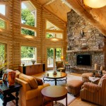 morningdale log homes, Barth-Log-Home-Greatroom