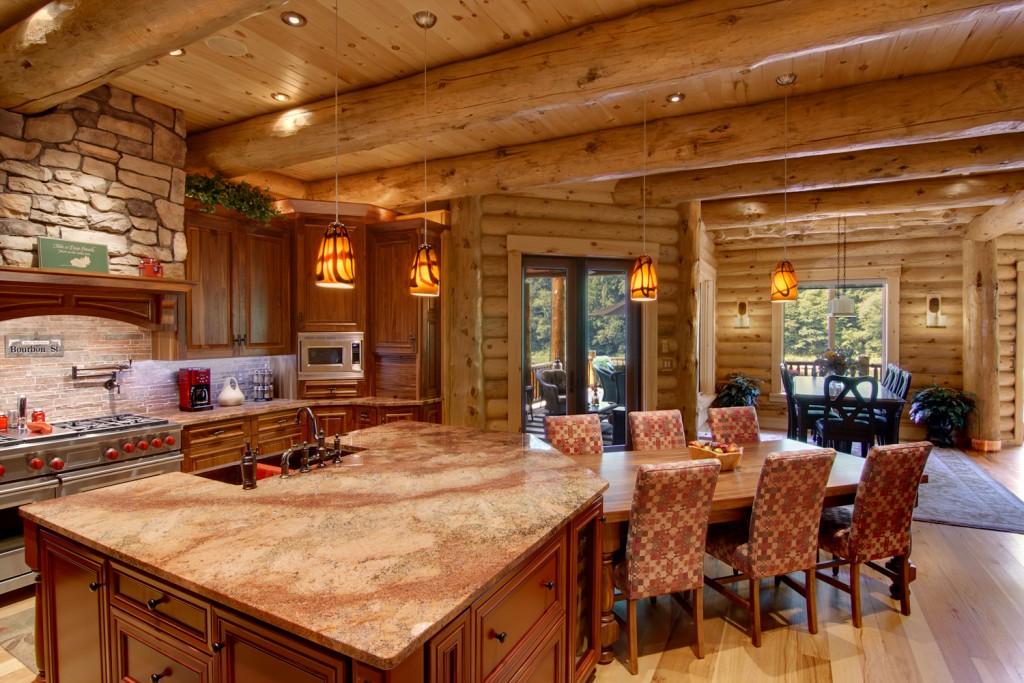 morningdale log homes, Barth-Log-Home-KitDin-1