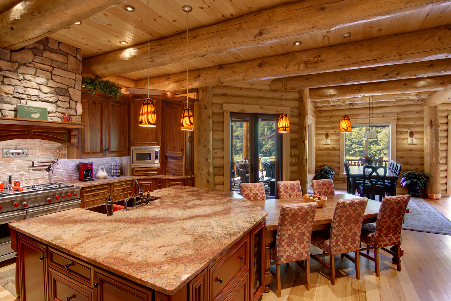 Barth Log Home Kitdin 1 Morningdale Log Homes Llc