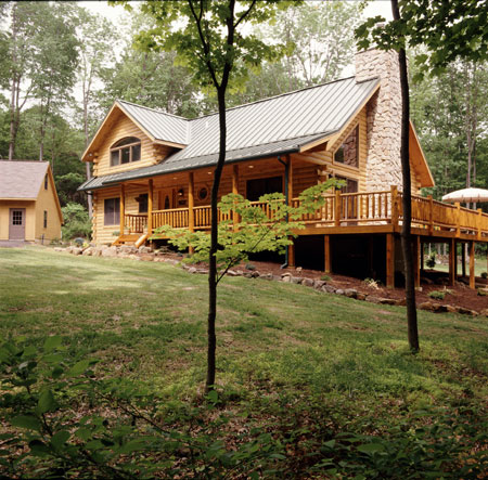 Morningdale Log Homes, log home exteriors, Pennsylvania