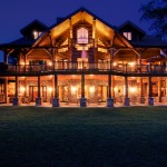 Morningdale Log Homes, log home exteriors-Twilight-3