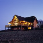 Morningdale Log Homes, log home exteriors, chesapeke design, in Kentucky