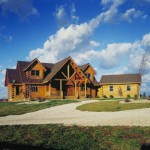Morningdale Log Homes, log home exteriors, exclusive Timberhaven log home plan