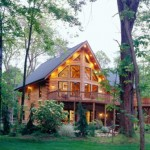 Morningdale Log Homes, log home exteriors, in ohio