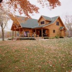 Morningdale Log Homes, log home exteriors, lakeside