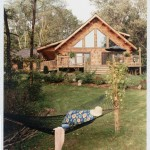 Morningdale Log Homes, log home exteriors, whitewashed logs