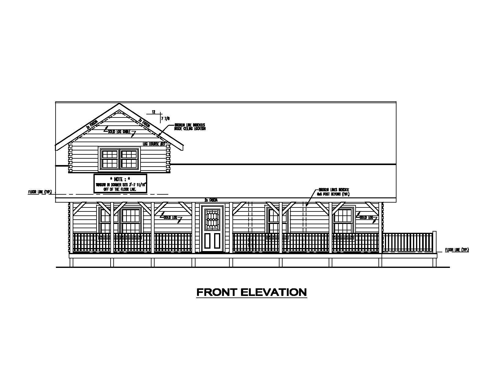 Keystone Elevation : Keystone i floor plans and elevations morningdale log